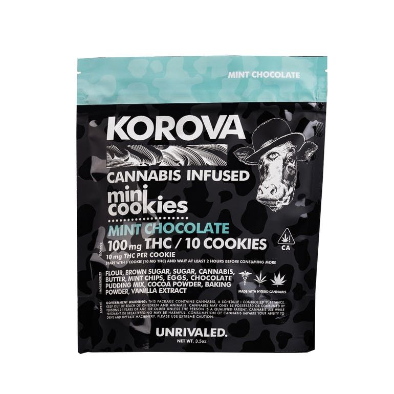 Korova's Mini Mint Chip Cookies 100mg