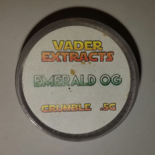 Vader extracts- crumble Emerald OG .5g