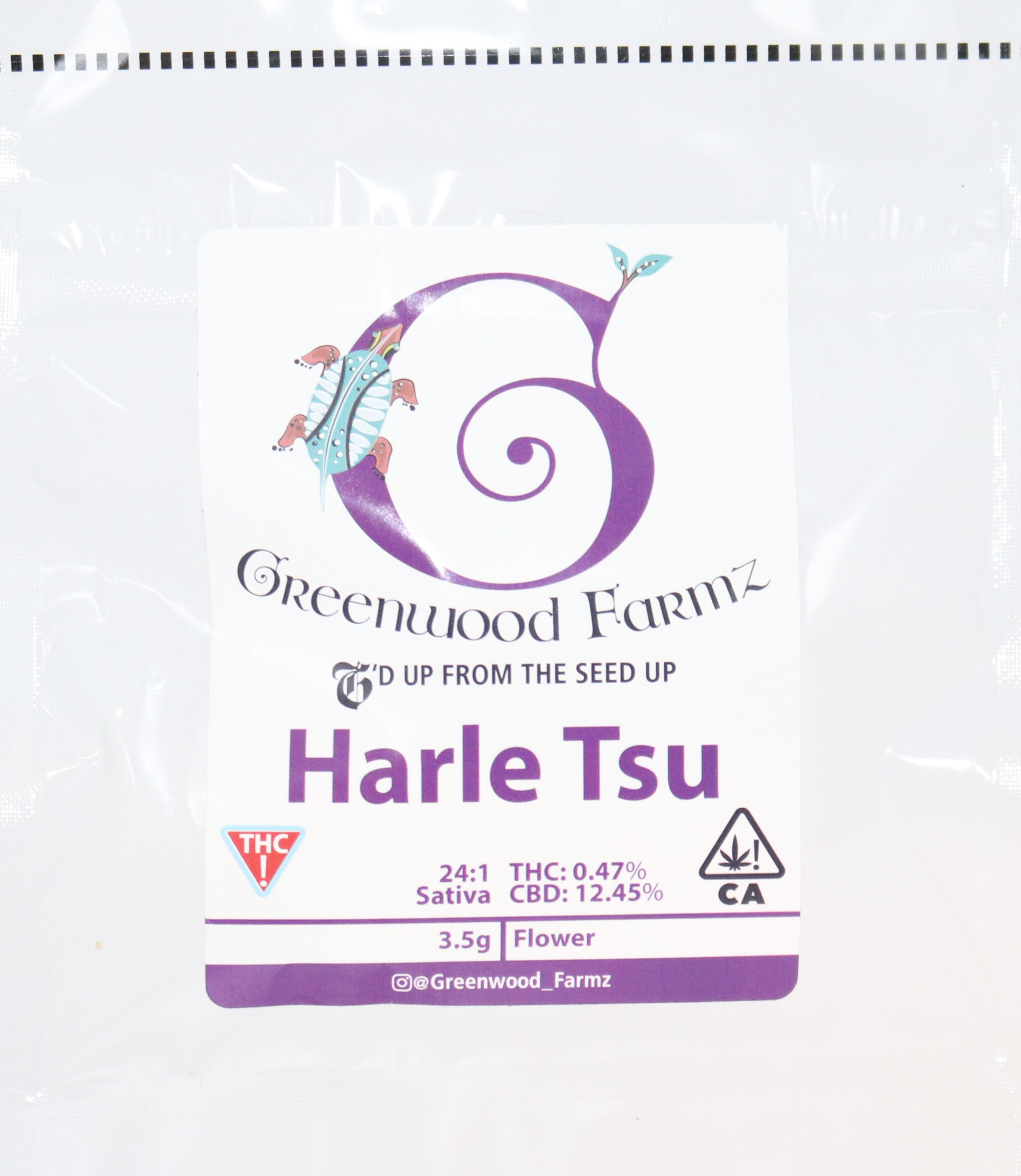 Greenwood Farmz - Harle Tsu CBD Flower