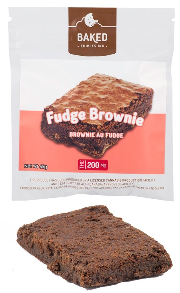 Baked Edibles Fudge Brownie 200mg
