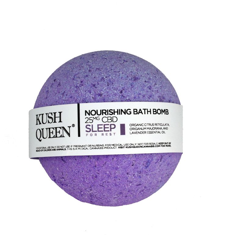 Kush Queen Sleep Bath Bomb Pure CBD