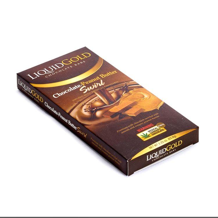 Liquid Gold Bars - Chocolate Peanut Butter Swirl