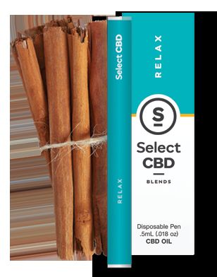 Relax Cinnamon - Select CBD Blends: Disposable Cartridges 250mg