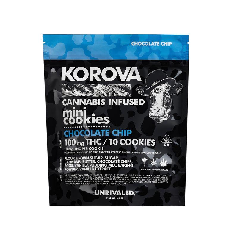 Korova's Mini Chocolate Chip Cookies 100MG