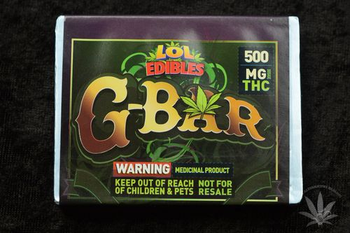 LOL Edibles G-Bar, 500mg