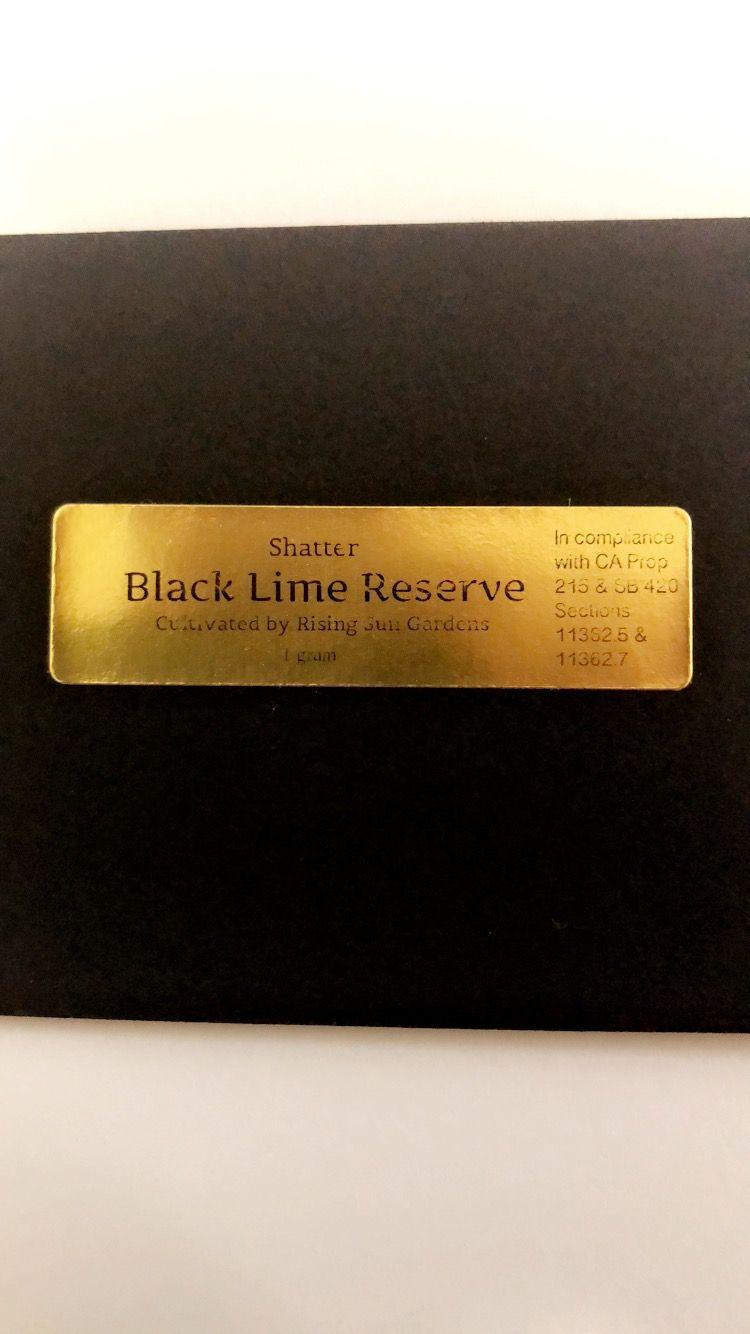 Black Lime Reserve Shatter