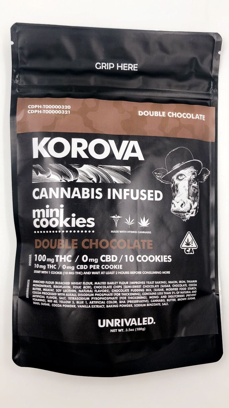 Korova Double Chocolate Mini Cookies