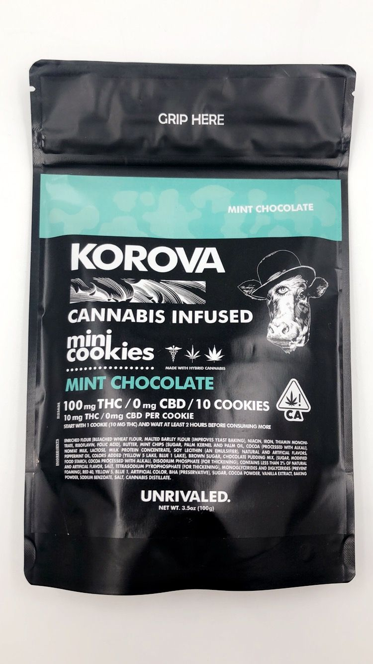 Korova Mint Chocolate Mini Cookies