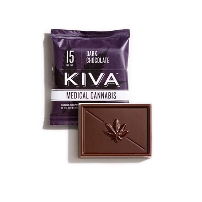 Kiva - Dark Chocolate Mini - 15mg