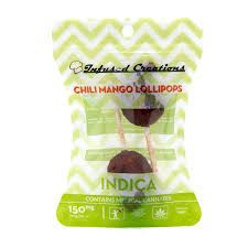 Infused Creations Chili Mango Lollipops-150mg (Indica)