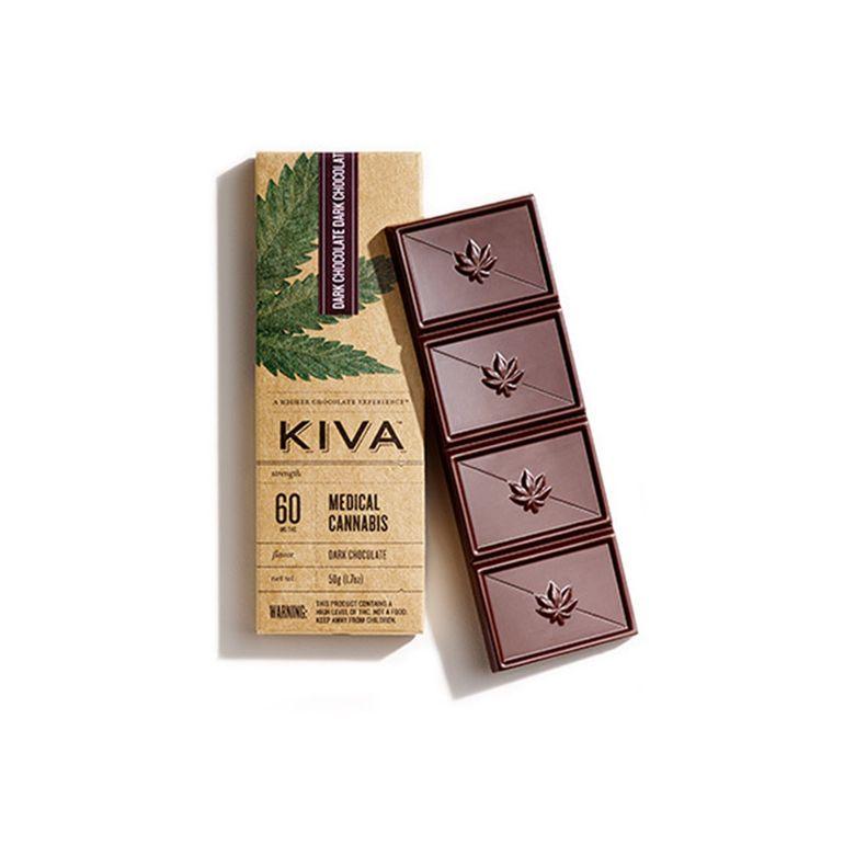 Kiva - Dark Chocolate Bar - 60mg