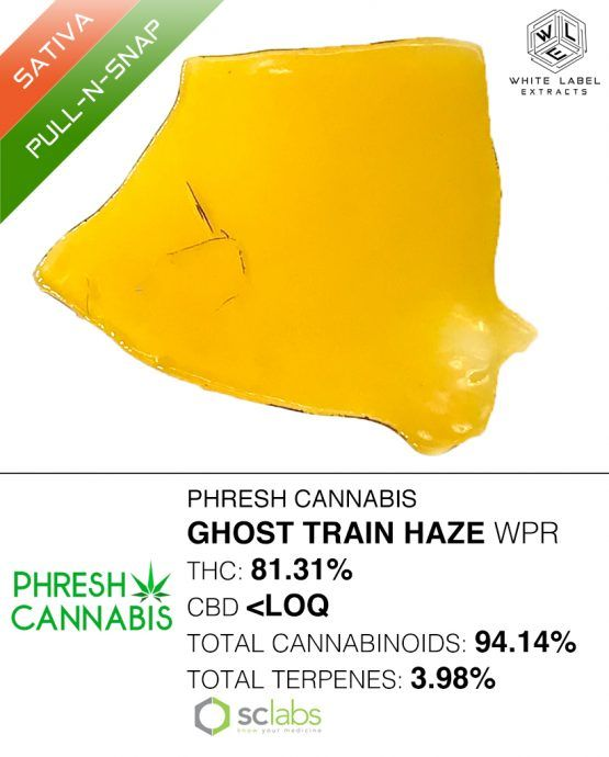 WLE - Ghost Train Haze WPR, Sativa, Pull-n-snap