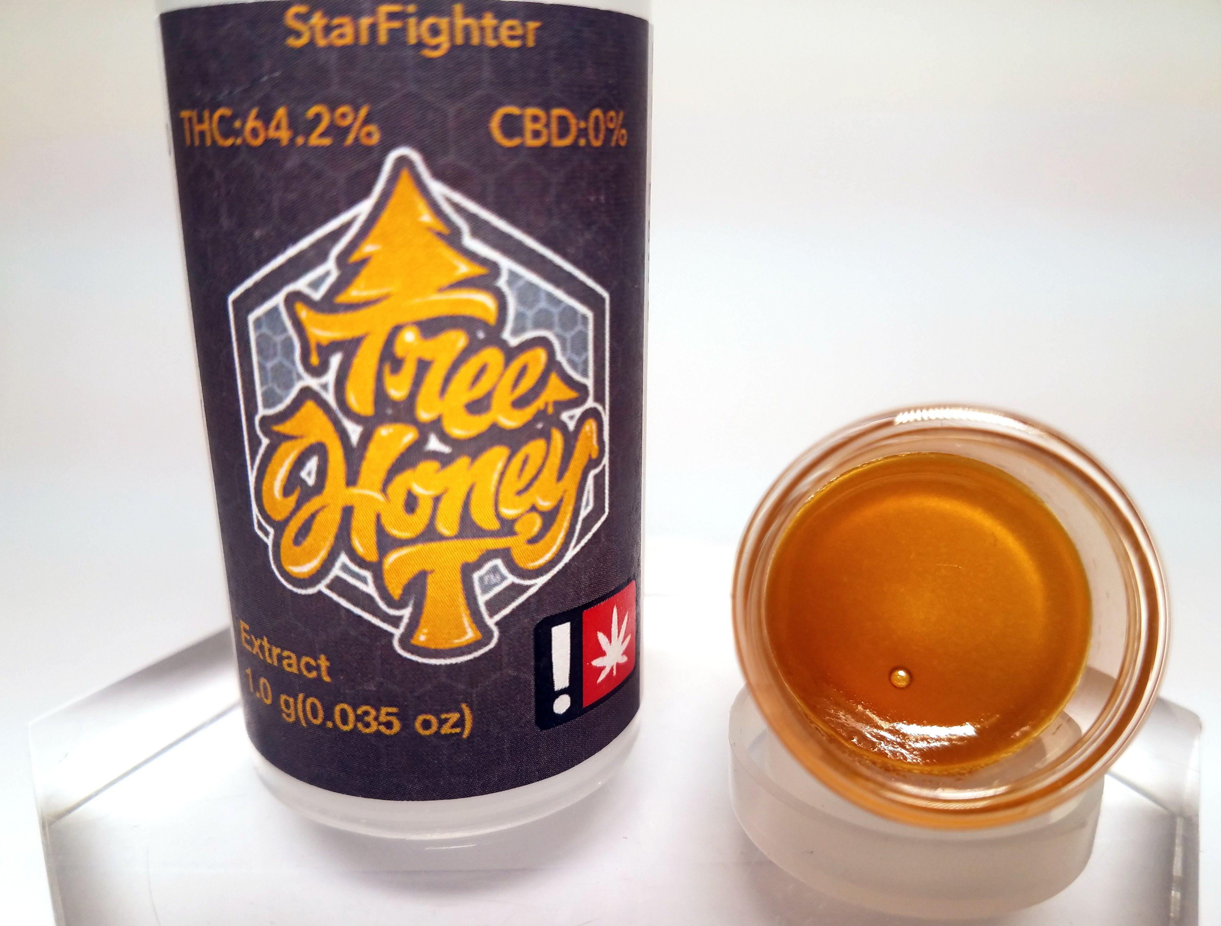 Tree Honey - Starfighter, Indica Hybrid, Sugar wax