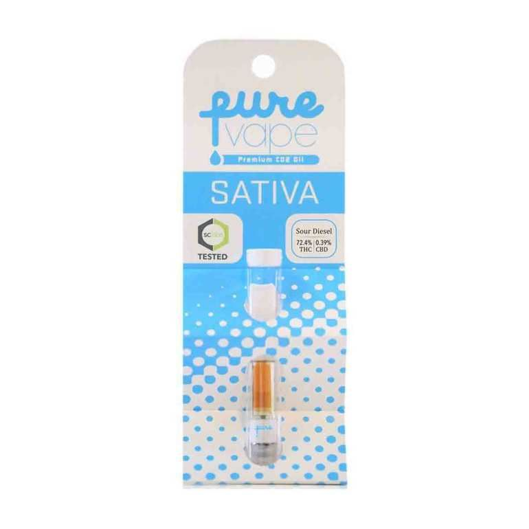 Pure One Sour Diesel Co2 Cartridge- Sativa