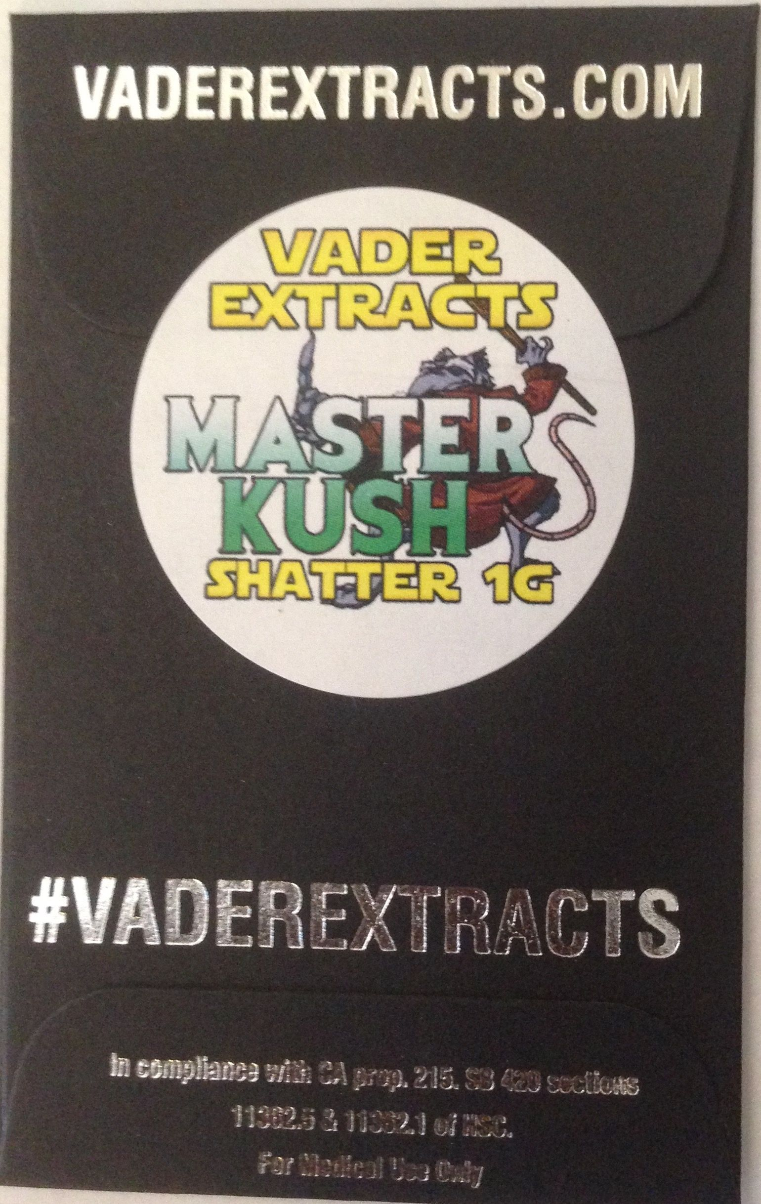 Vader Extracts - Master Kush Shatter