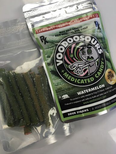 Voodoo Sours - Watermelon Sour Straws 375mg