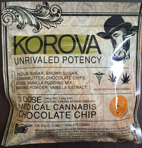 KOROVA: Chocolate Chip Cookie 3 Dose 150mg