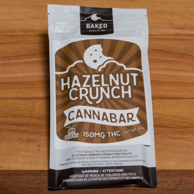 Baked Edibles Hazelnut Crunch Bar