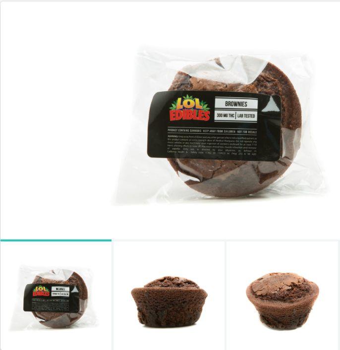 Brownie  (300 mg.) LOL Edibles