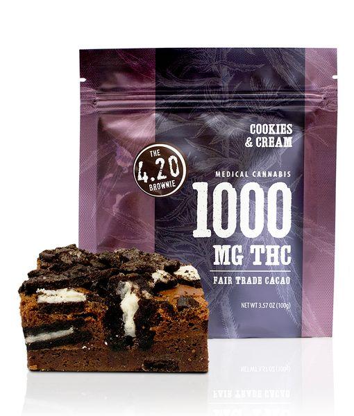 1000MG Venice Cookie Co. Cookies and Cream Brownie
