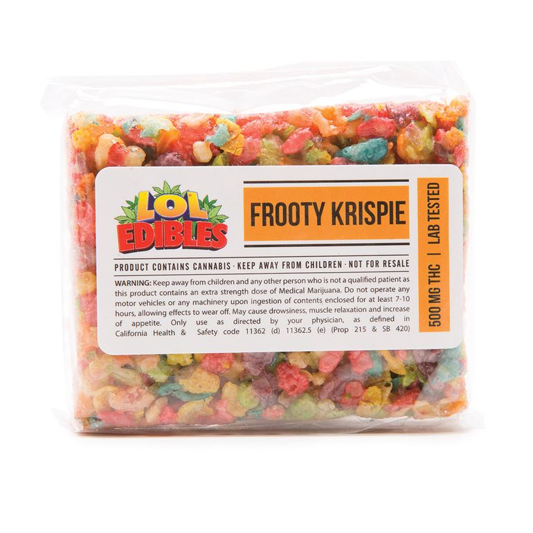 LOL Edibles Frooty Krispie 500 MG