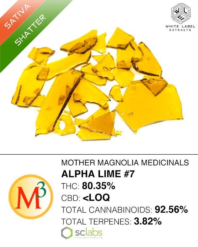 WLE - Alpha Lime #7, Sativa, Shatter