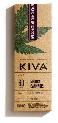 Kiva 60mg Dark Chocolate Bar