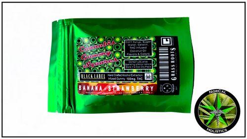 -Gummy Square-100mg Distillate (Black Label)