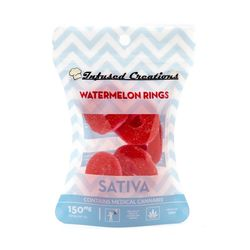 infused Creations Water Melon Rings-150mg (sativa)