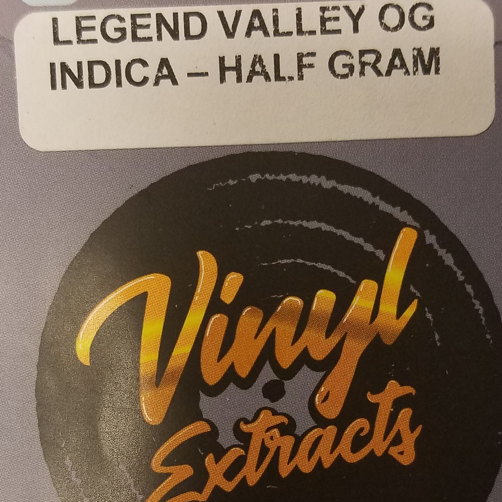 Vinyl Extracts-LegendValley OG .5g Shatter (I)