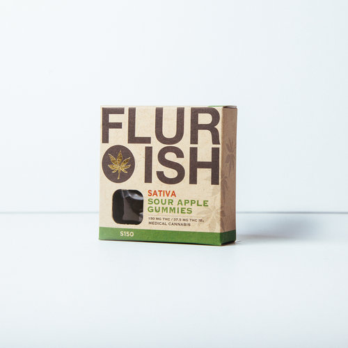 Flurish 4 Dose Apple Gummies 150 MG
