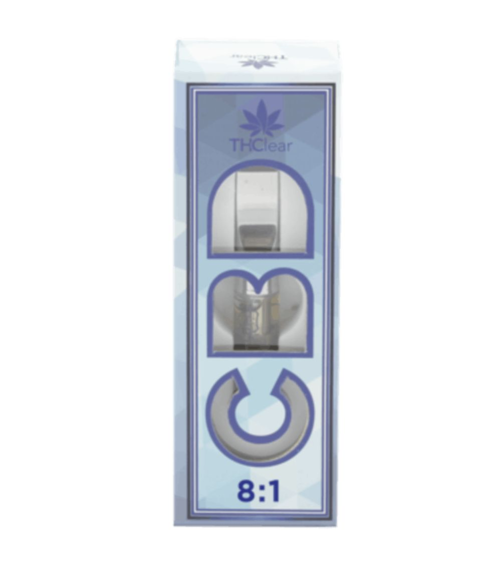 CBD 8:1 (Paris OG Indica) Cart THClear .5g