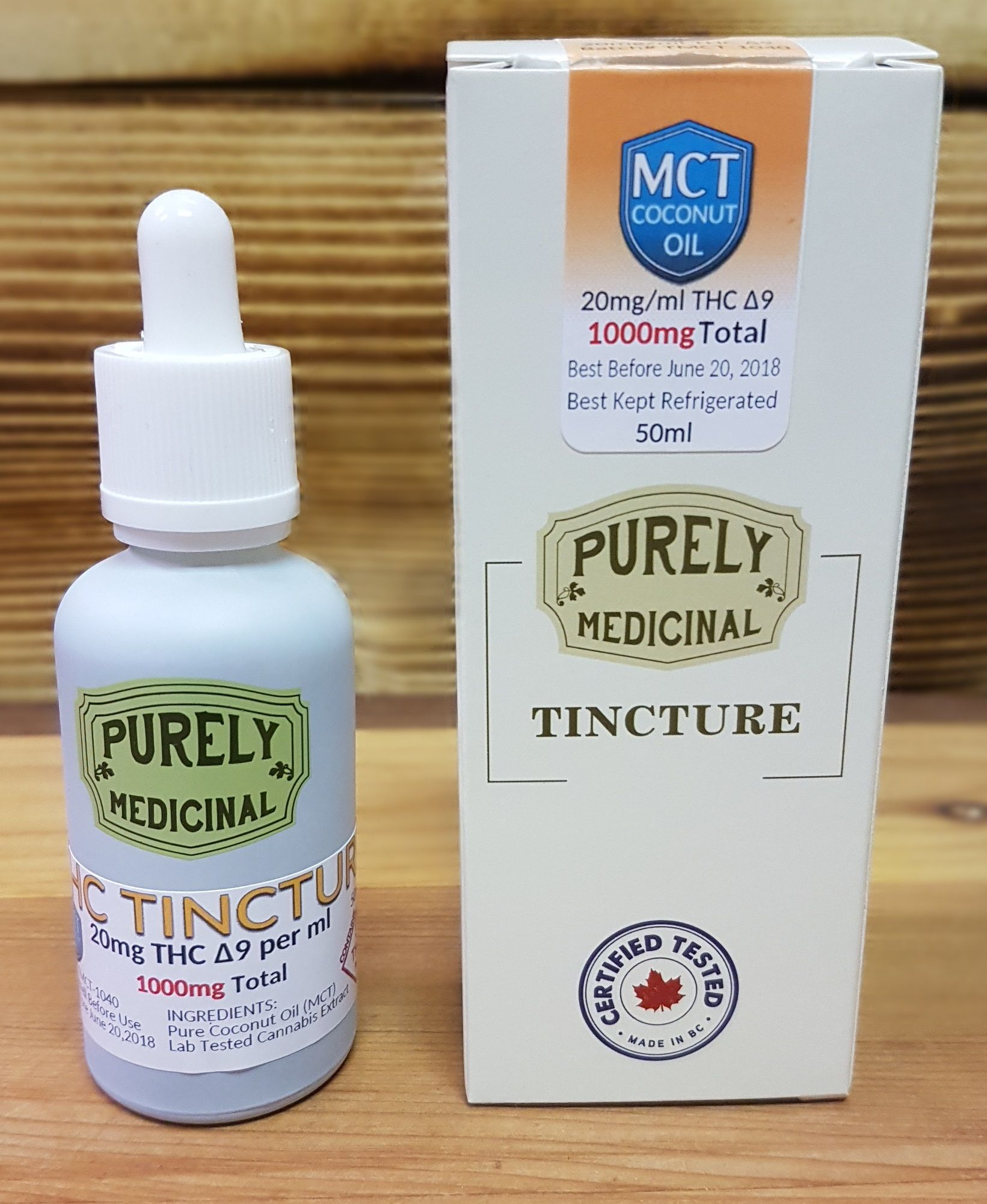 Purely Medicinal THC Tincture MCT 50ml