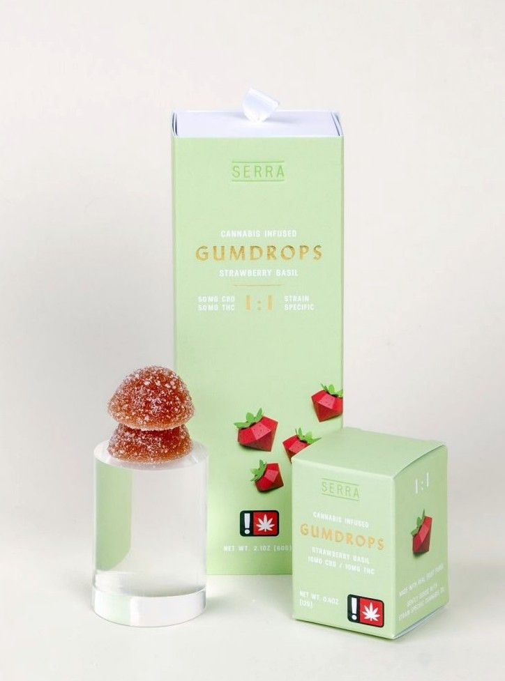 Serra - Strawberry Basil Gumdrop 10 Pack, 1:1 Sativa Hybrid