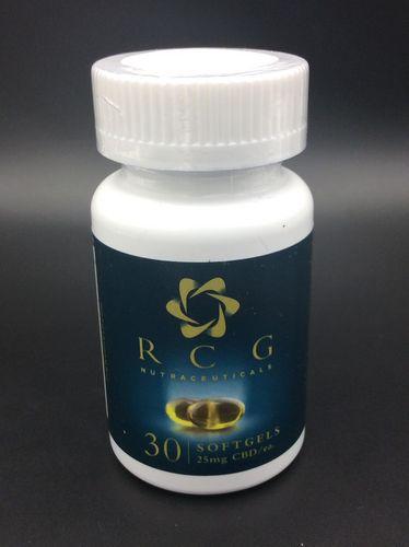 RCG CBD Soft Gel 30 Capsule Bottle