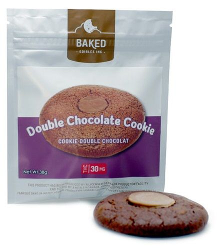 Baked Edibles Double Chocolate Cookie