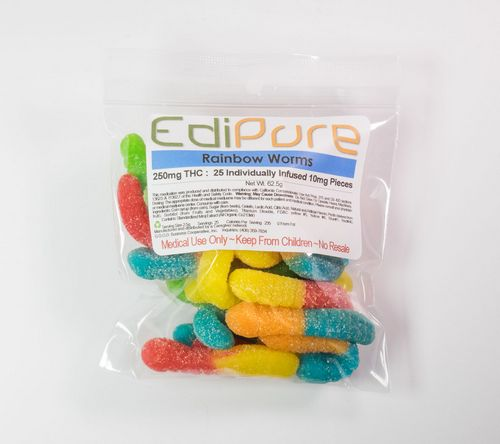 Edipure - Rainbow Worms (Gummy Candy)