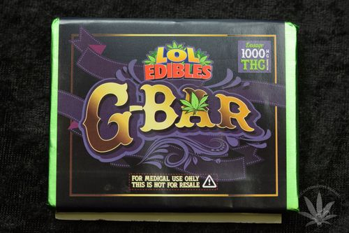 LOL Edibles G-Bar, 1000mg