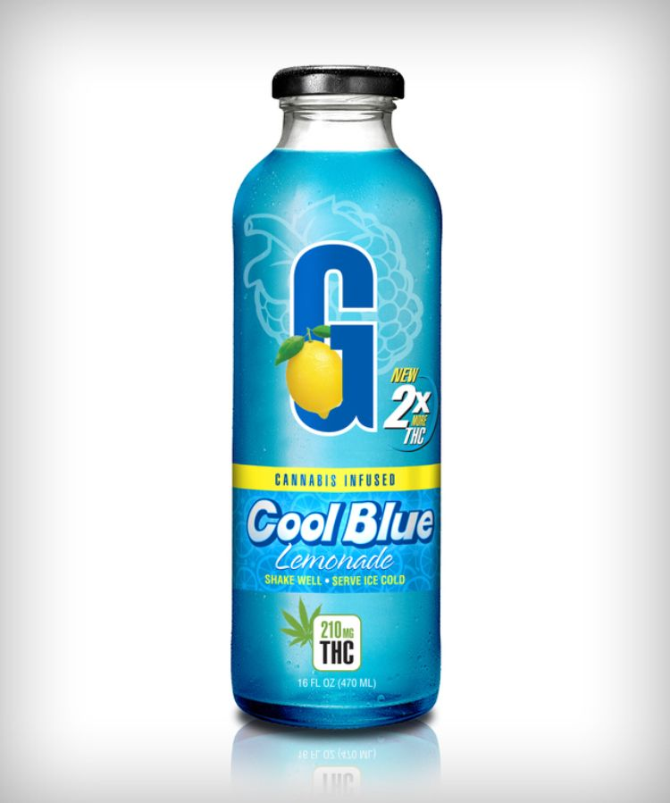 GFarmaLabs Cannabis Infused Cool Blue Lemonade 210mg