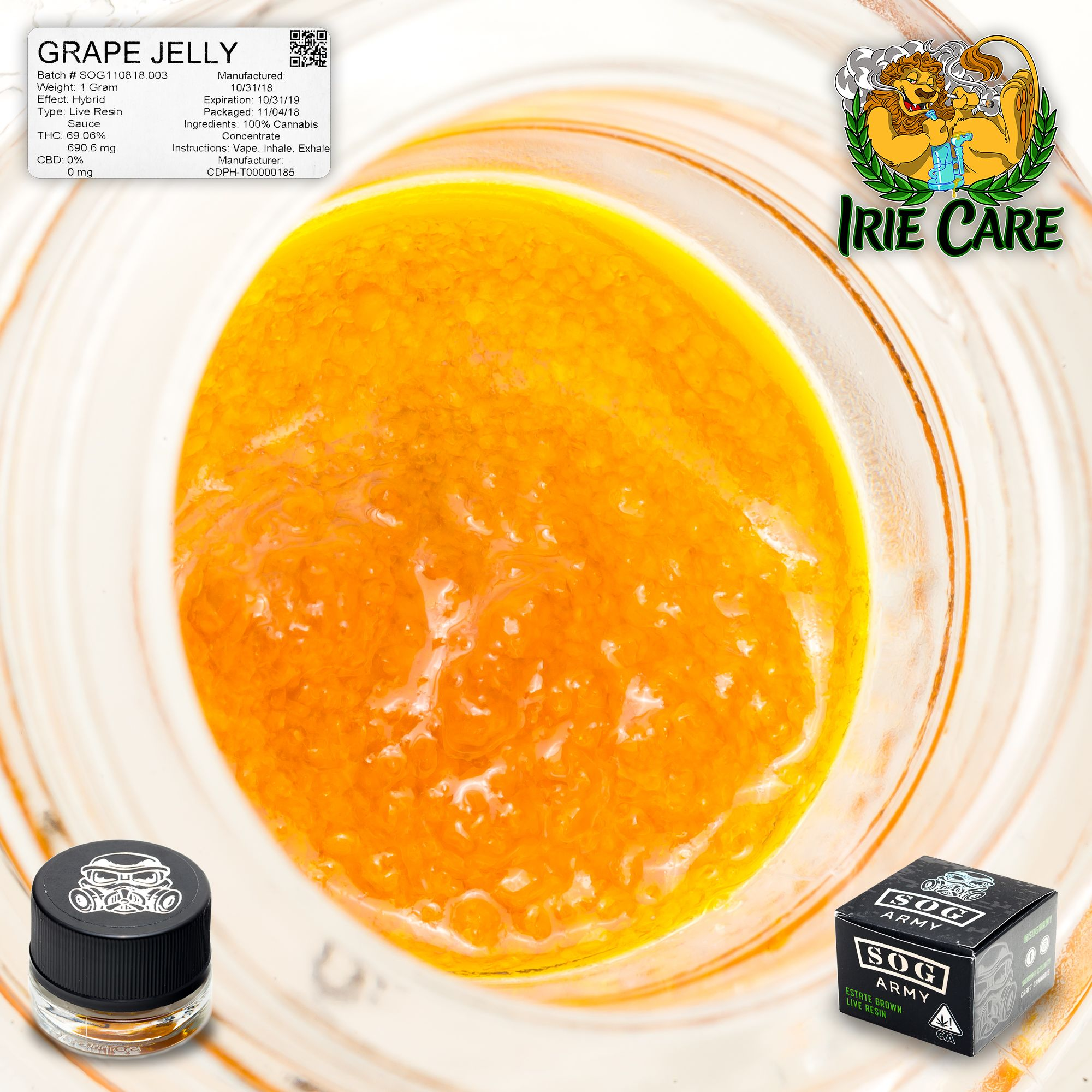 SOG Army - Grape Jelly *Live Resin Sauce*