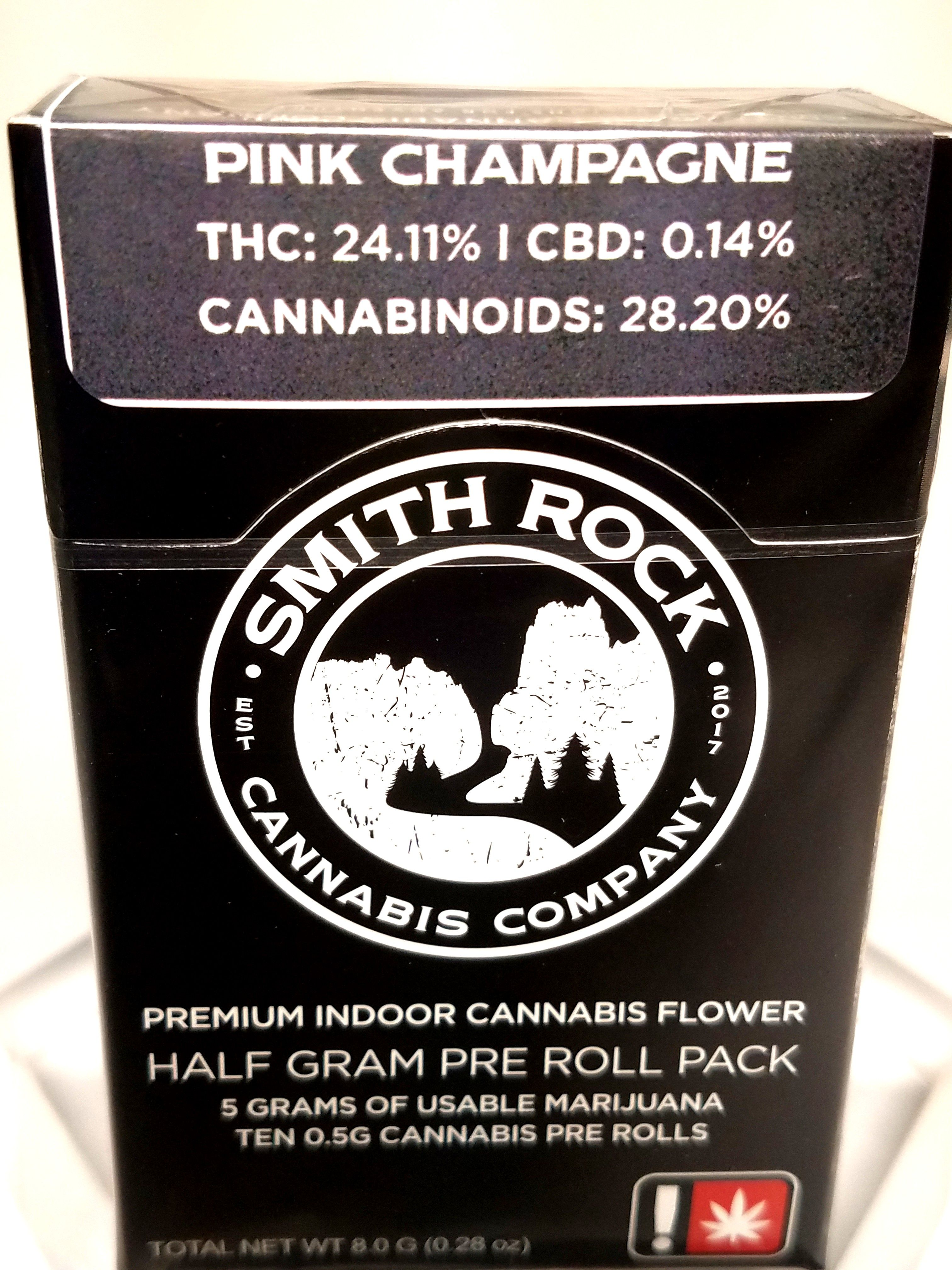 Smith Rock Cannabis Company - Pink Champagne, Indica, 10 Pack