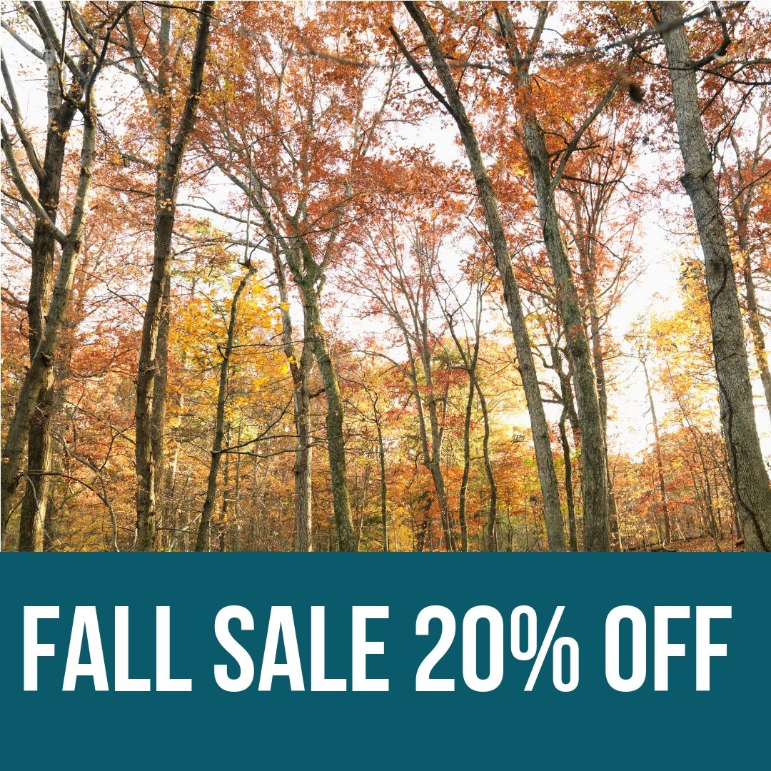 20% off storewide, all fall long. Let it rain!