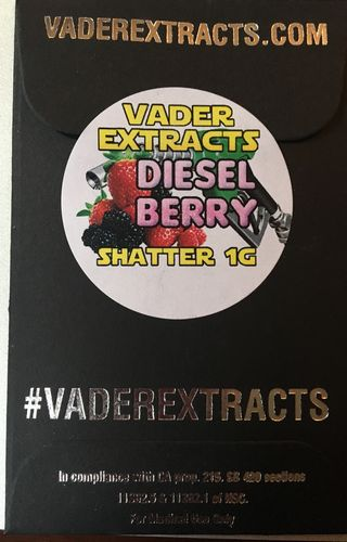 Vader Extracts- Diesel Berry Shatter 1g