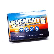"Elements Rice Rolling Papers 1 1/2"" $2"