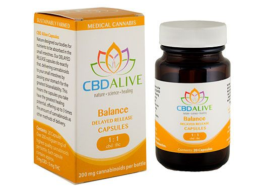 CBD Alive Balanced Delayed Release Capsules 200mg