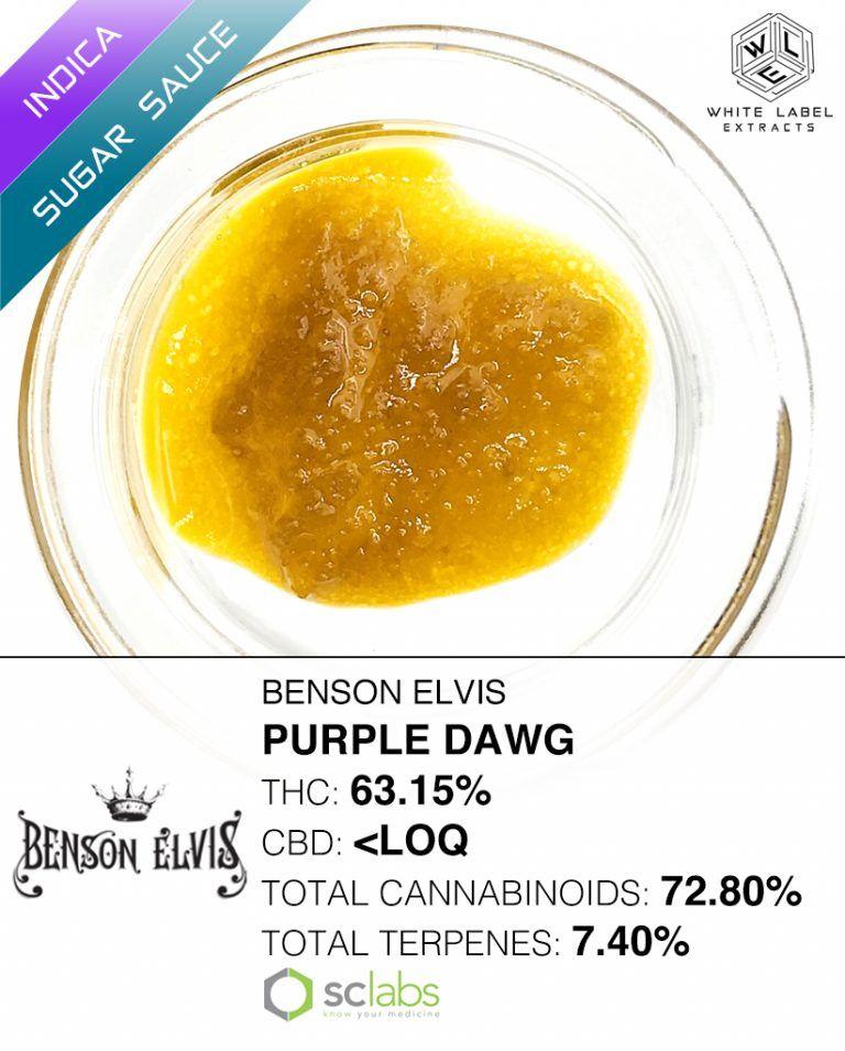WLE - Purple Dawg, Indica Hybrid, Sugar Sauce