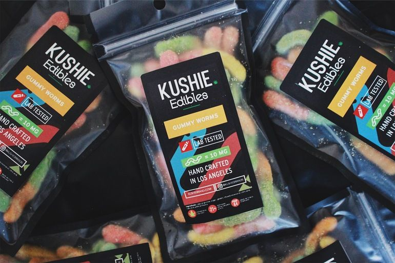 Kushie Brand Gummy Worms - 320mg