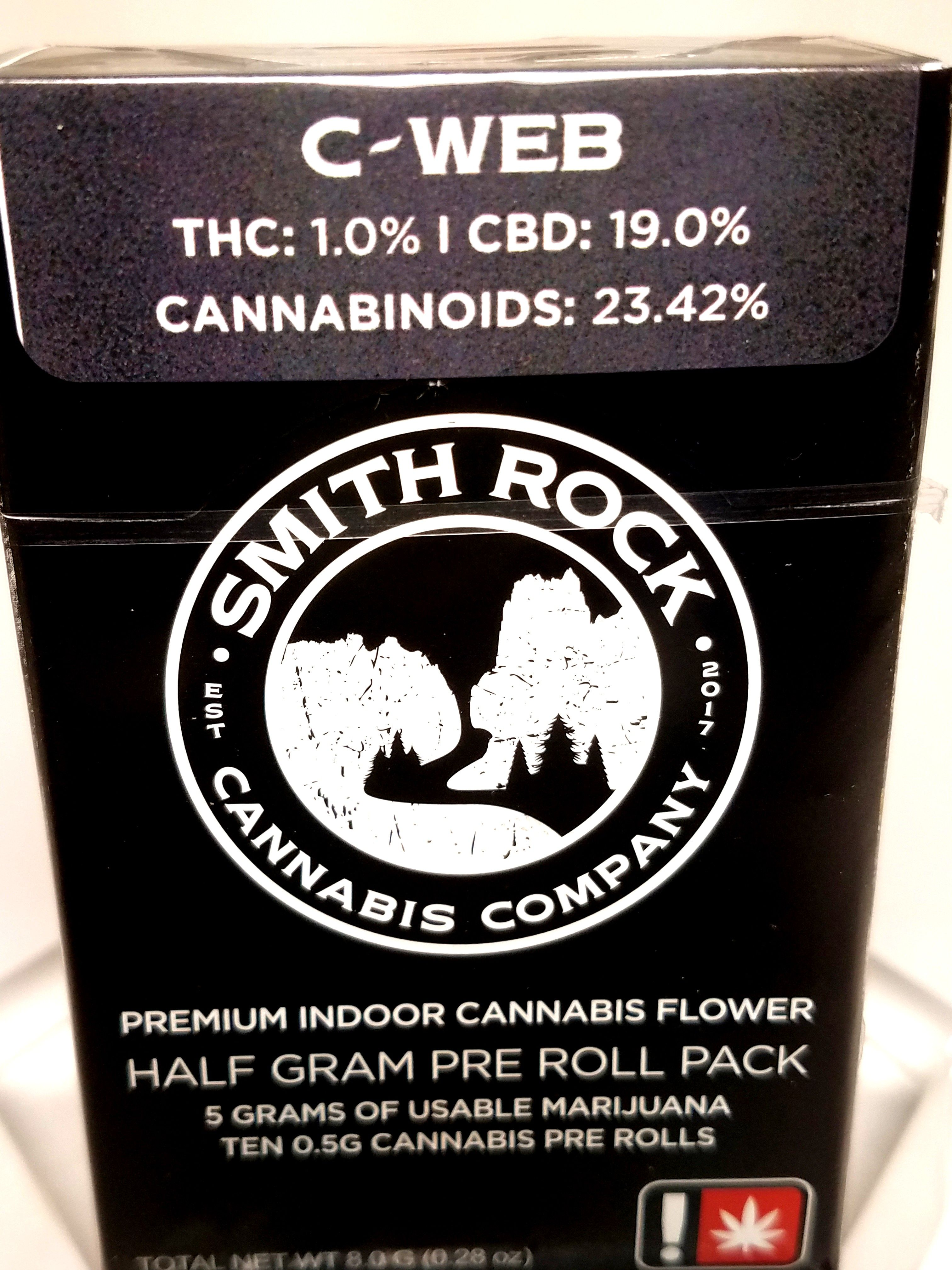 Smith Rock Cannabis Company - C Web, High CBD, Sativa Hybrid, 10 Pack