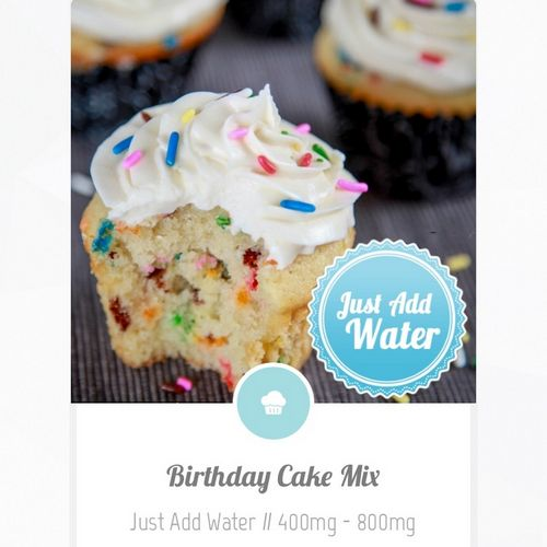 Infused Edibles Take-n-Bake Birthday Cake 800mg TCH