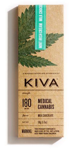 Kiva 180mg Mint Irish Cream Bar